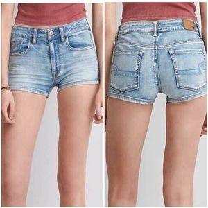 AEO Stretch High-Waist Shorts